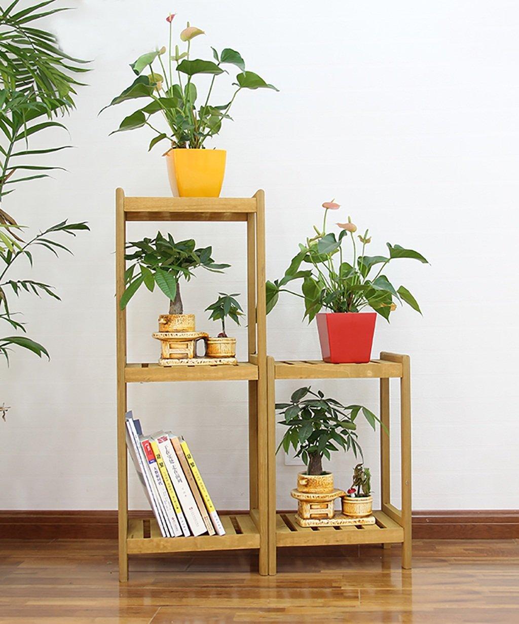 LB huajia ZHANWEI Massivholz-Blumen-Racks Moderne Einfachheit Anti-Korrosions-Blumentopf Rack Regal Holz Farbe
