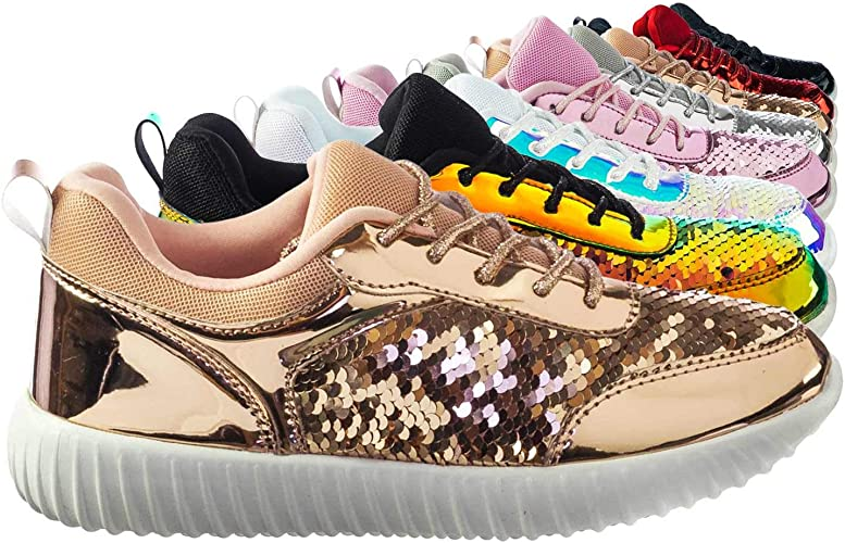 Cute Women Sequin Glitter Shiny Sequin Clubwear Party Shoes Low Block Heels