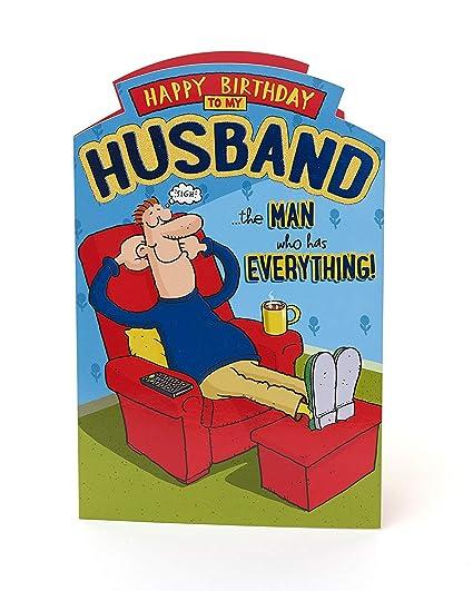 Tarjeta de cumpleaños divertida para marido - Tarjeta de ...