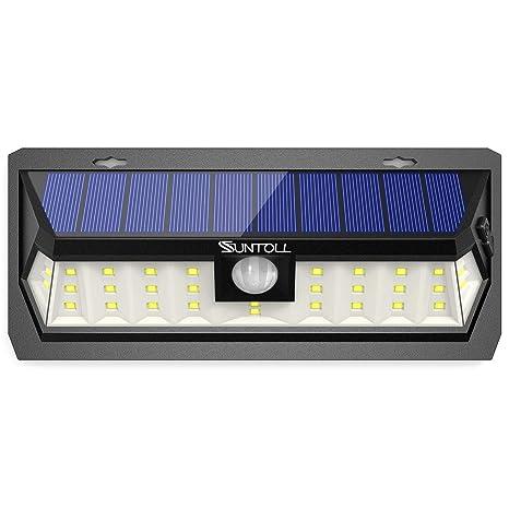 SUNTOLL Luz Solar, 30 LED Lámpara Solar de Exterior con Sensor de Movimiento, Lluminación