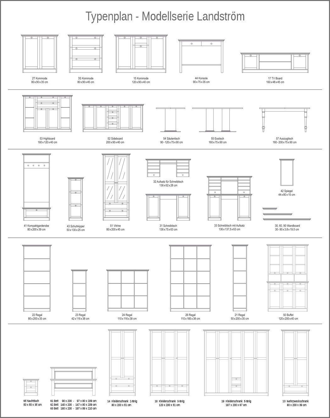 Kleiderschrank Landström 14 weiß 80x200x51 cm Drehtürenschrank ...