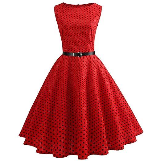 e6bb4dcae4844 Birdfly Spring Summer Women Floral Vintage Hepburn Style Beam Waist ...