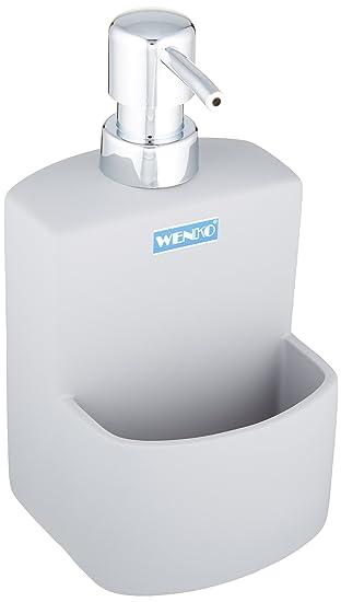 Wenko Grey Liquid Soap Dispenser With Sponge Holder