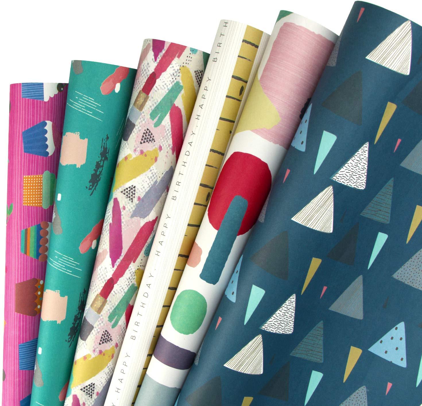 Menorahs Candele Chanukah Design La Stella Di David RUSPEPA Hanukkah Gift Wrapping Paper Sheet 44,5 X 76CM Per Foglio 1 Rotolo Contiene 8 Fogli