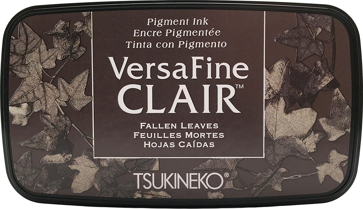 5.6 x 9.7 x 2.3 cm Brown Synthetic Material Tsukineko Fallen Leaves Versafine Clair Ink Pad
