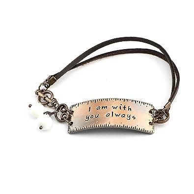 Amazoncom Unqjry Christian Leather Bracelet For Girlfriend