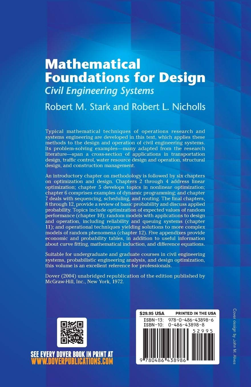 Mathematical Foundations for Design: Civil Engineering