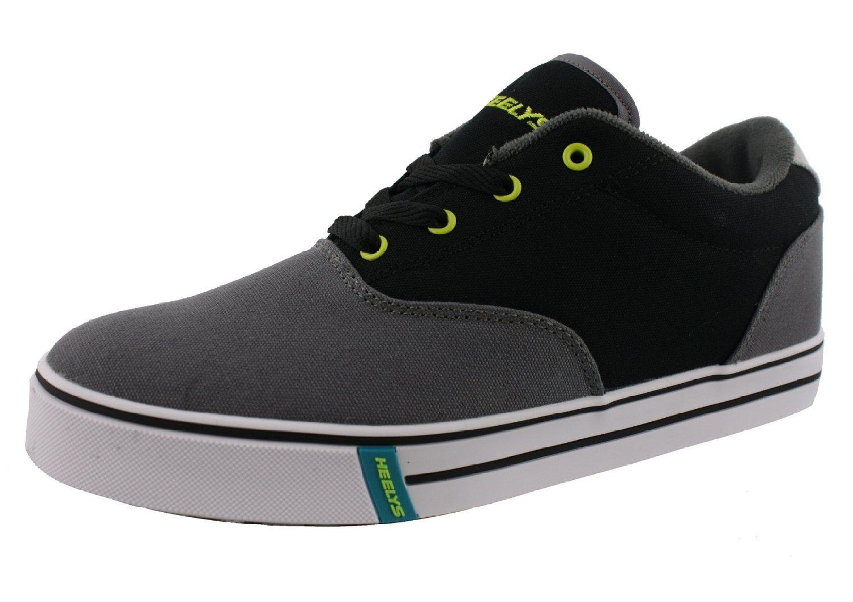 Heelys Men's Launch Fashion Sneaker Charcoal/Black/Lime 11 M US by Heelys (Image #1)