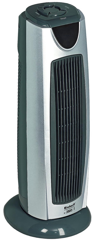 Einhell Design Tour de chauffage HT 2000/1 (2000 W, 3 niveaux de chauffage, fonction rotative enclenchable, é lé ment de chauffage en cé ramique, silencieux et peu encombrant) 3niveaux de chauffage 2000 W Oszillation