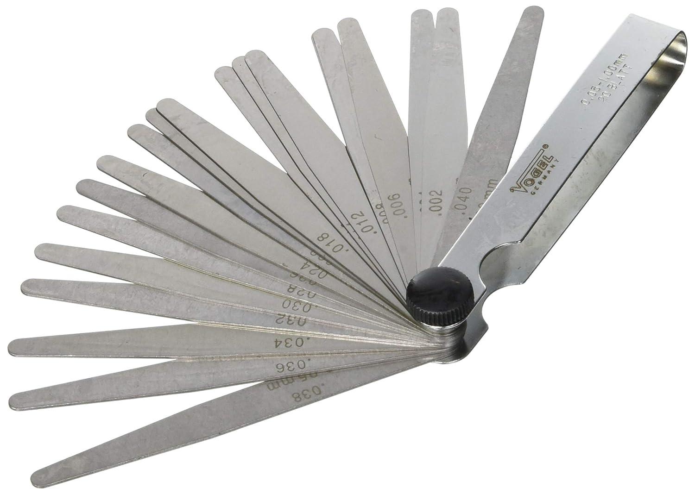 Vogel 411007 - Juego galgas espesores acero templado laminas 20 411007.0