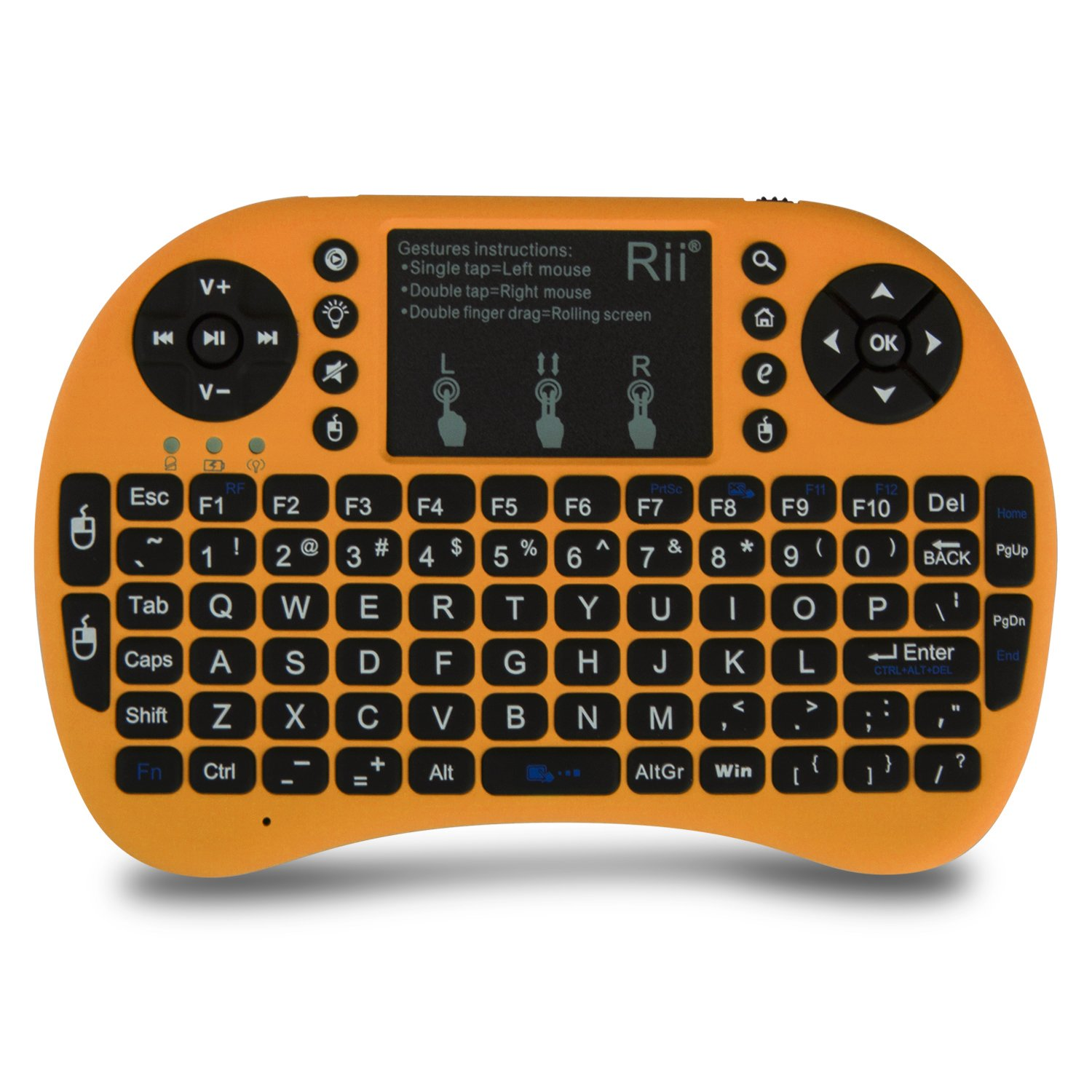 Mini Wireless 2.4G Back Light Touchpad Keyboard with Mouse for PC//Mac//Android Rii i8 Blue