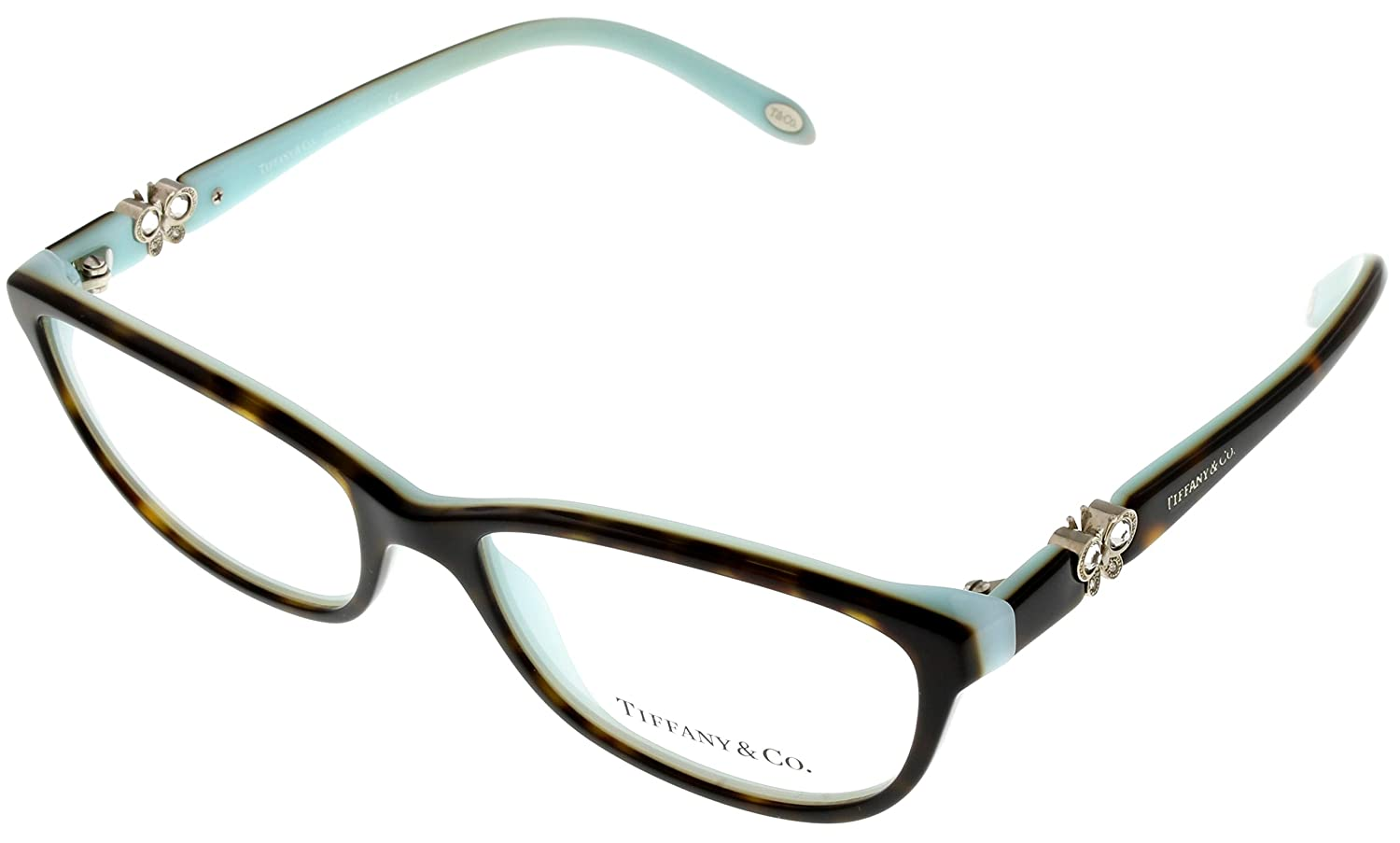 0aa52b7954 Amazon.com  Tiffany   Co. Prescription Eyeglasses Frame Women Havana TF 2051 -B 8134 Rectangular  Clothing