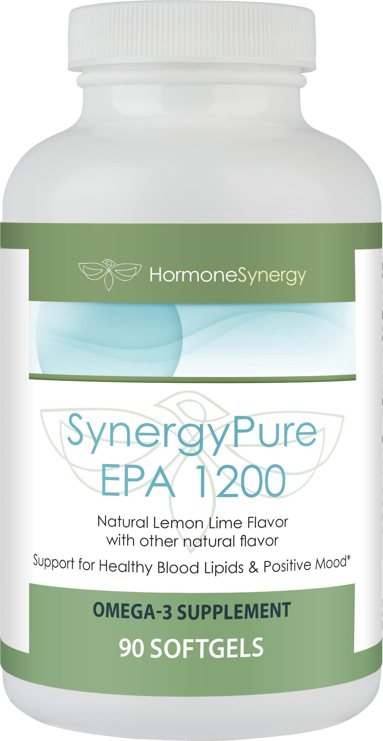 SynergyPure EPA 1200 90 Softgels | Each SynergyPure EPA 1200 softgel Provides a Total of 1200 mg of EPA | Support for Healthy Blood Lipids & Positive Mood*