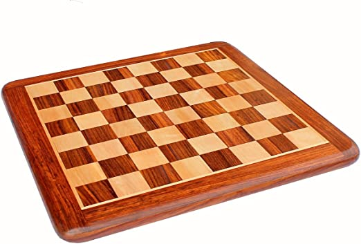 15 X 15 Collectible Rosewood Wooden Chess Game Board Without Pieces - Appropriate Wooden & Brass Chess Pieces Chessmen available separately by StonKraft Brand
