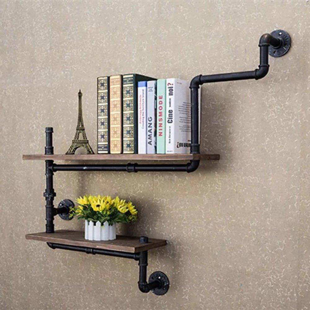 Reclaimed Wood Industrial DIY Pipes Shelves Steampunk Rustic Urban Bookshelf