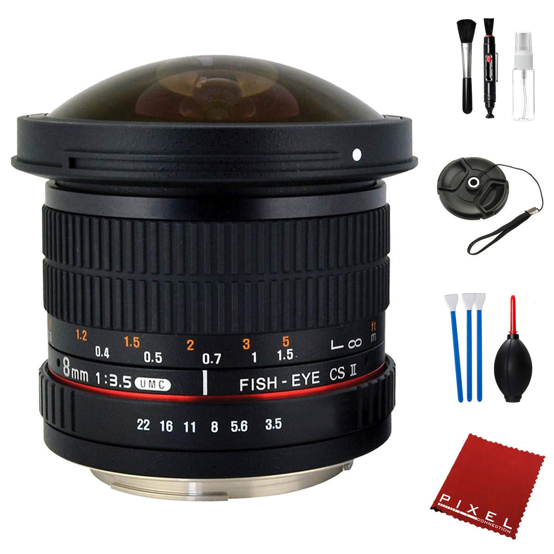 Rokinon 8mm f/3.5 HD 魚眼レンズ 取り外し可能なフード付き Pentax K用 必須アクセサリー付き   B07ND1N9MG