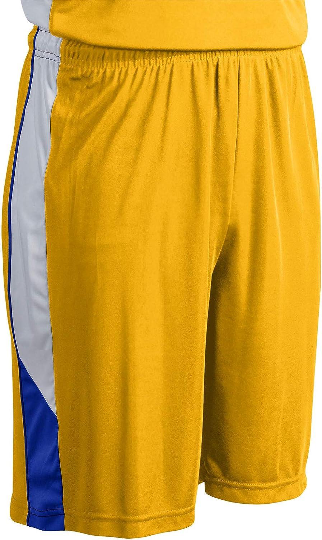 Royal White Adult 2X-Large Gold CHAMPRO Rebel Polyester Basketball Short