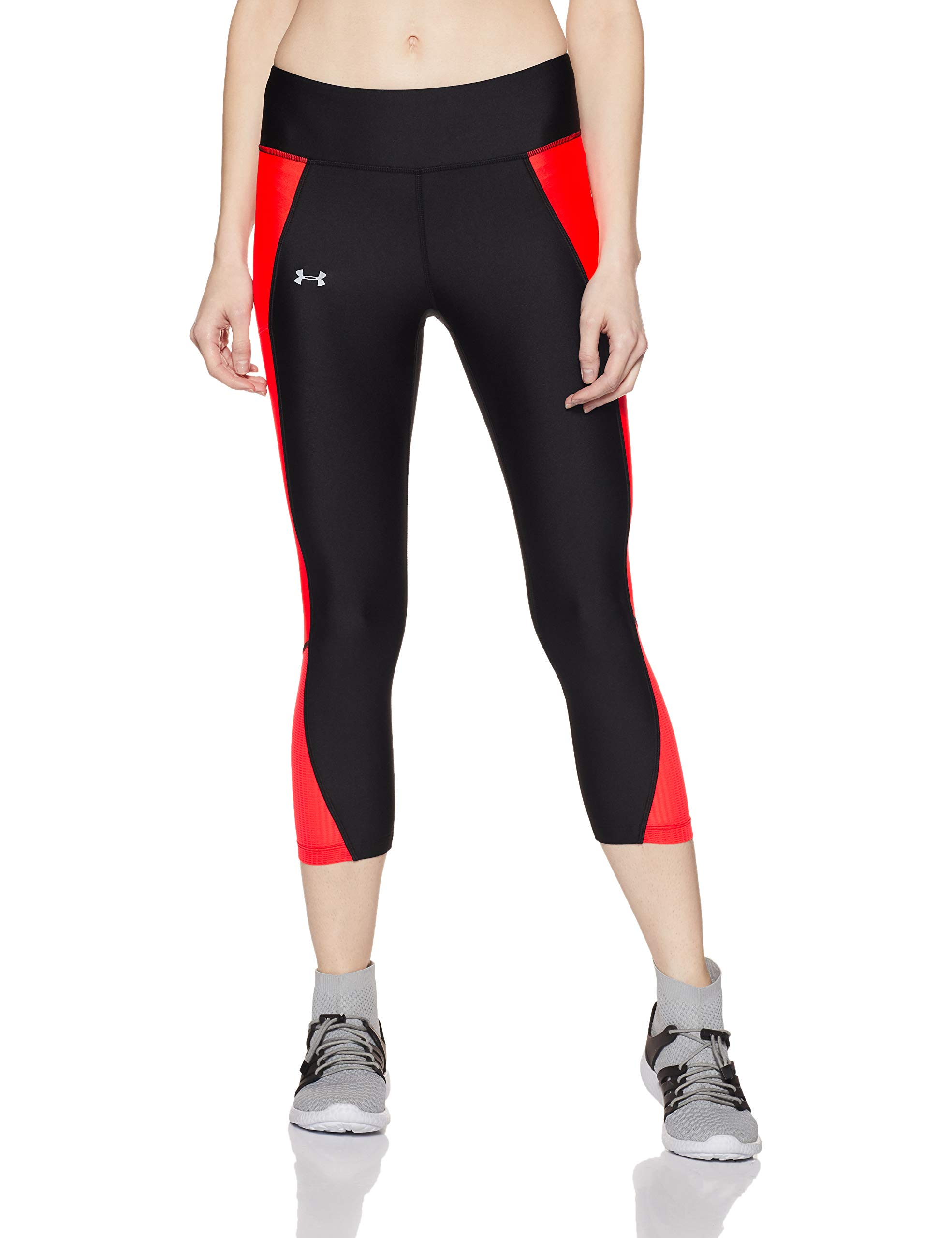 Under Armour Women's Fly-By Capri,Black (006)/Reflective, X-Small