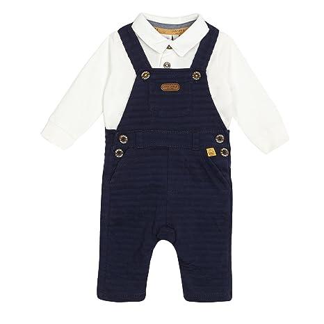 Bebé Niños azul marino con textura con y blanco Polo camisa de ...