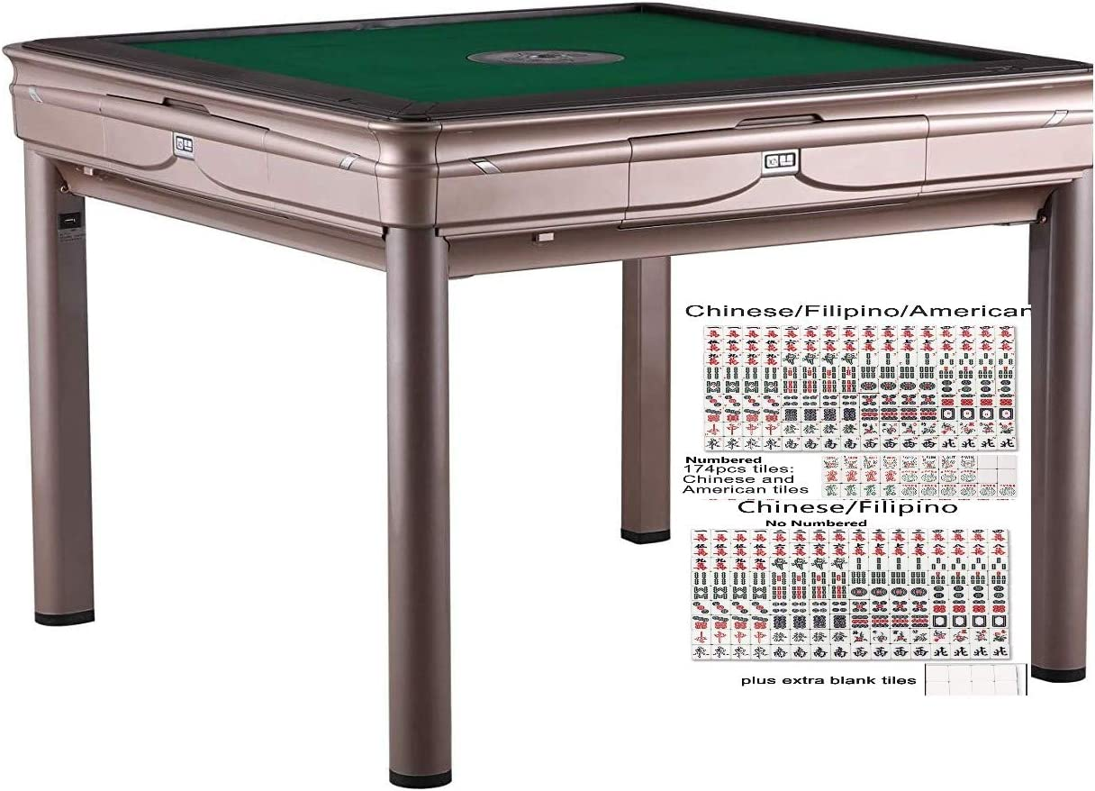 usamjtable Simple Style Mahjong 4 Legs Automatic Hard Cover Chinese American Style Table