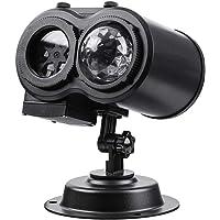 CAMTOA Lámpara de proyección LED, enciende la lámpara de proyección de doble cabeza IP44 con 12 patrones intercambiables…