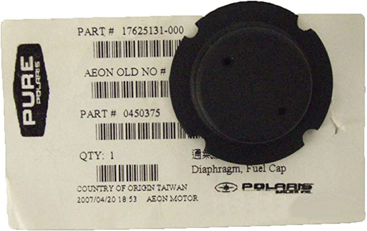 NEW OEM Gas Cap Diaphragm Breather Polaris 90 Predator 90 Sportsman 90 0450375
