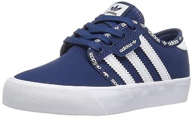 8f4d1cab7d0 adidas Originals Boys  Seeley J Running Shoe Mystery Blue White