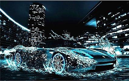 Coche deportivo 5d diamond painting kit full drill 5D DIY ronda Diamante Pintura coche Tren Avi/ón Paisaje Diamante bordado Completo Cuadrado Punto de cruz Rhinestone Mosaico@40x50cm