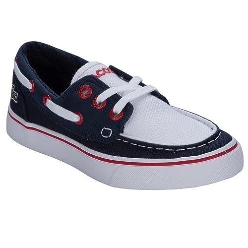 Lacoste - Zapatillas para niño azul azul marino, color azul, talla 28 EU Niño: Lacoste: Amazon.es: Zapatos y complementos