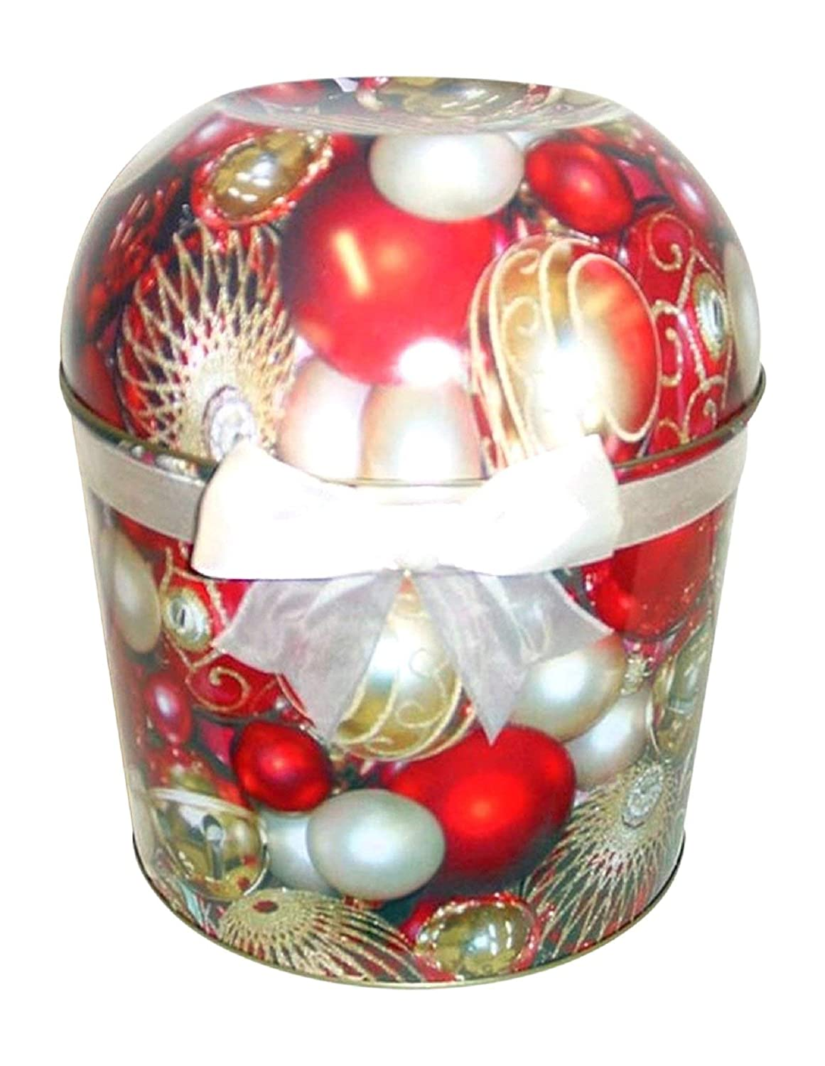 Red Christmas Ornament Popcorn Tin 1.75 Gallon Pick Your Flavor (Xtra Cheddar Cheese Please)