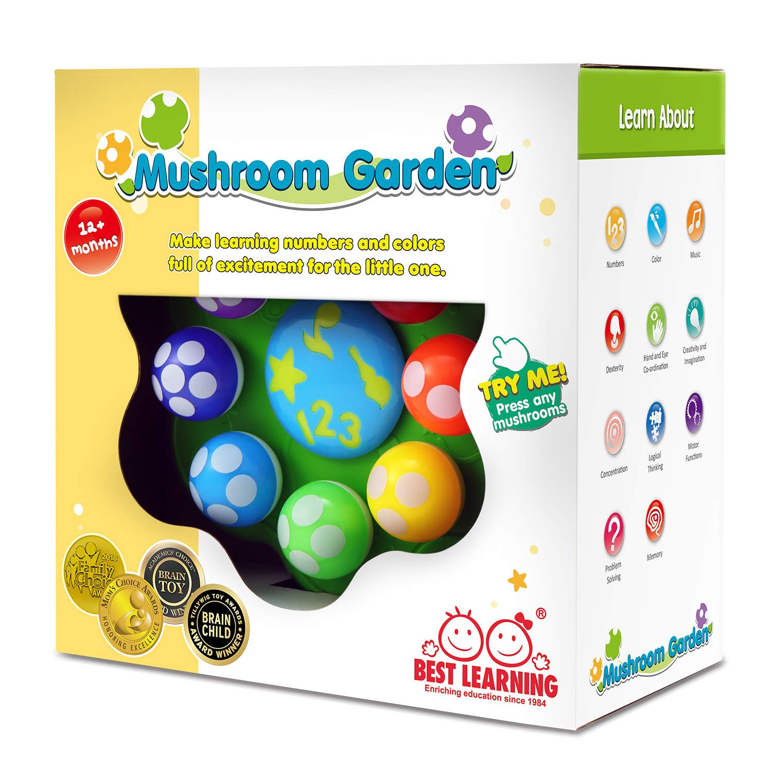 BEST LEARNING Mushroom Garden - Interactive Educational Light-Up Toddler Toys for 1 to 3 Years Old Infants & Toddlers - Colors, Numbers, Games & Music for Kids by BEST LEARNING (Image #8)
