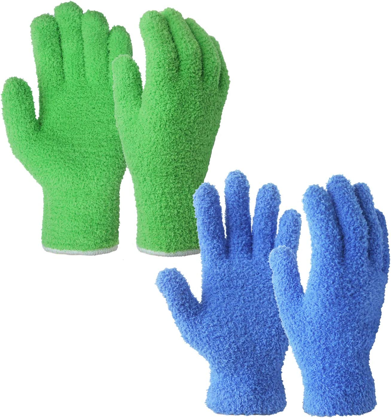 EvridWear Microfiber Auto Dusting Cleaning Gloves for House Cleaning (Multi-Pack)