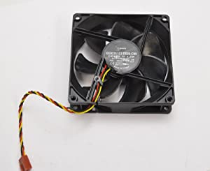 Sunon RKC55 Genuine OEM Dell XPS 8700 8300 Vostro 430 460 470 Inspiron 530 531 Desktop Internal Rear Case Cooling Fan Model EE92251S3-D020-C99 3-Pin 3-Wire Connector