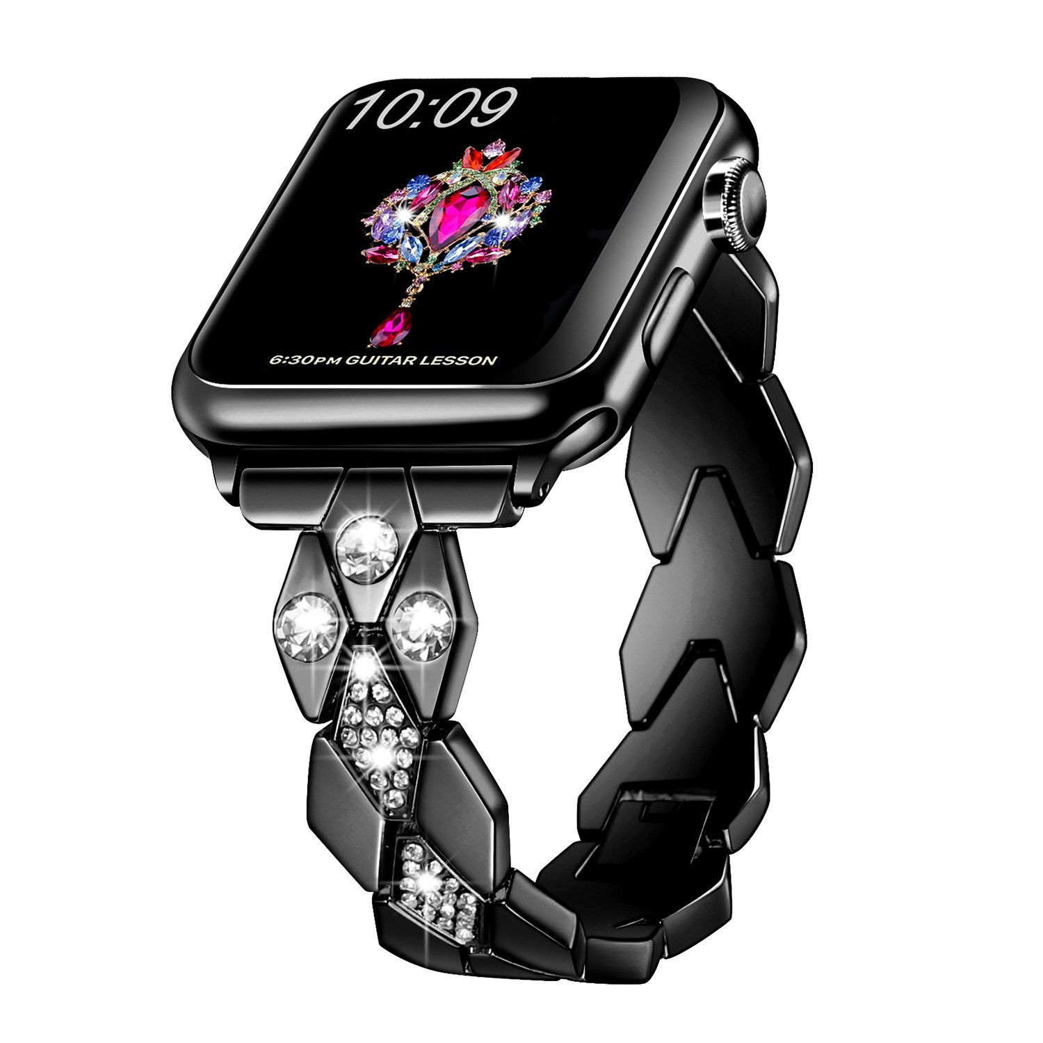 Sangaimei Replacement Wristband Compatible with Apple Watch 38mm 40mm Stainless Steel Smartwatch Bands Compatible with Apple Watch Series 5 Series 4 ...