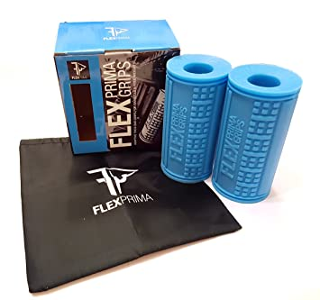 flexprima Fitness Grips/Agarres grueso bar/grasa adaptador para Massive brazo y aumentos de la construcción muscular Fitness mancuernas escalada: Amazon.es: ...