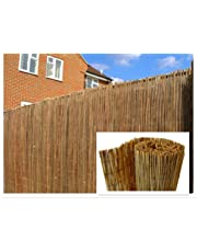 DREAMS VILLA Natural Peeled Reed Screening Roll Garden Screen Fence Fencing Panel 4m