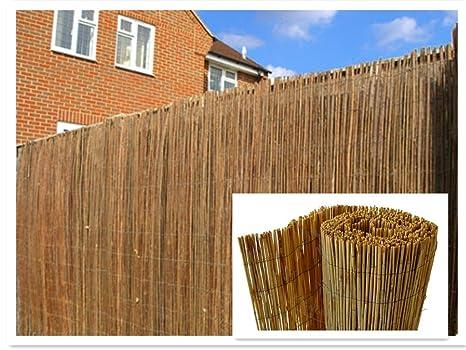 Natural sfogliato recinzione in canna di bambù recinzione da