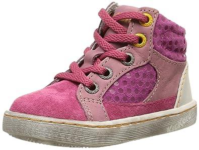 Kickers Gift, Chaussures Bébé Marche Bébé Fille, Beige (Beige/Rose), 22 EU