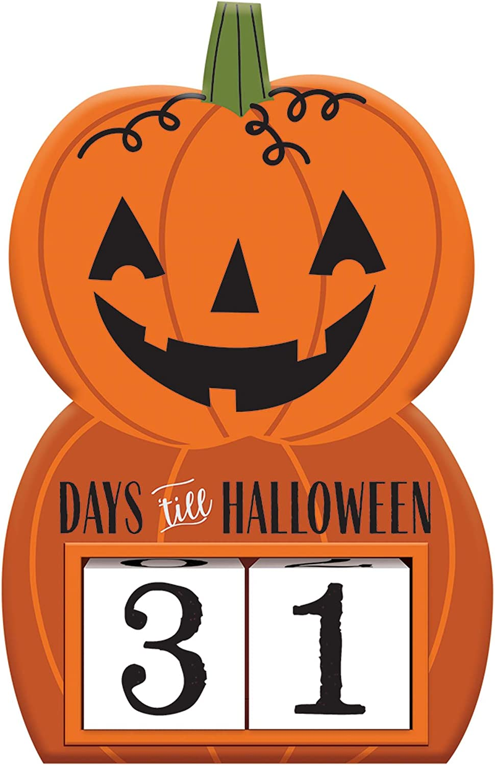 How Many Days Till Halloween 2020 Countdown Amazon.com: Halloween Countdown Sign: Health & Personal Care