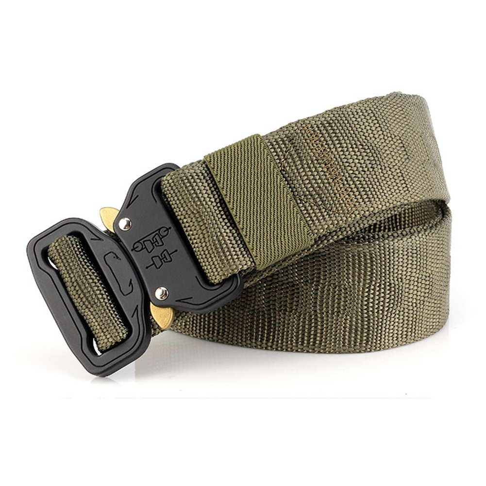 Thickyuan Men's Tactical Belt Heavy Duty Webbing Belt Adjustable Military Style Nylon Belts with Metal Buckle|MOLLE Tactical CQB Rigger|multiple choices by Thickyuan (Image #6)
