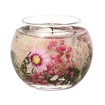 Stoneglow de flores cera Natural pecera vela