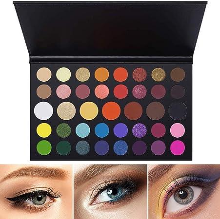 Paleta de Sombras de Ojos 39 Colores Sombra de Ojos Powder Make Up Waterproof Matte and Shimmers Paleta De Ojo Kit Maquillaje Set Maquillaje Profesional Caja: Amazon.es: Hogar