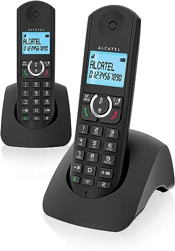 Alcatel F380s Duo - Teléfono Fijo, Color Negro: Alcatel: Amazon.es: Electrónica