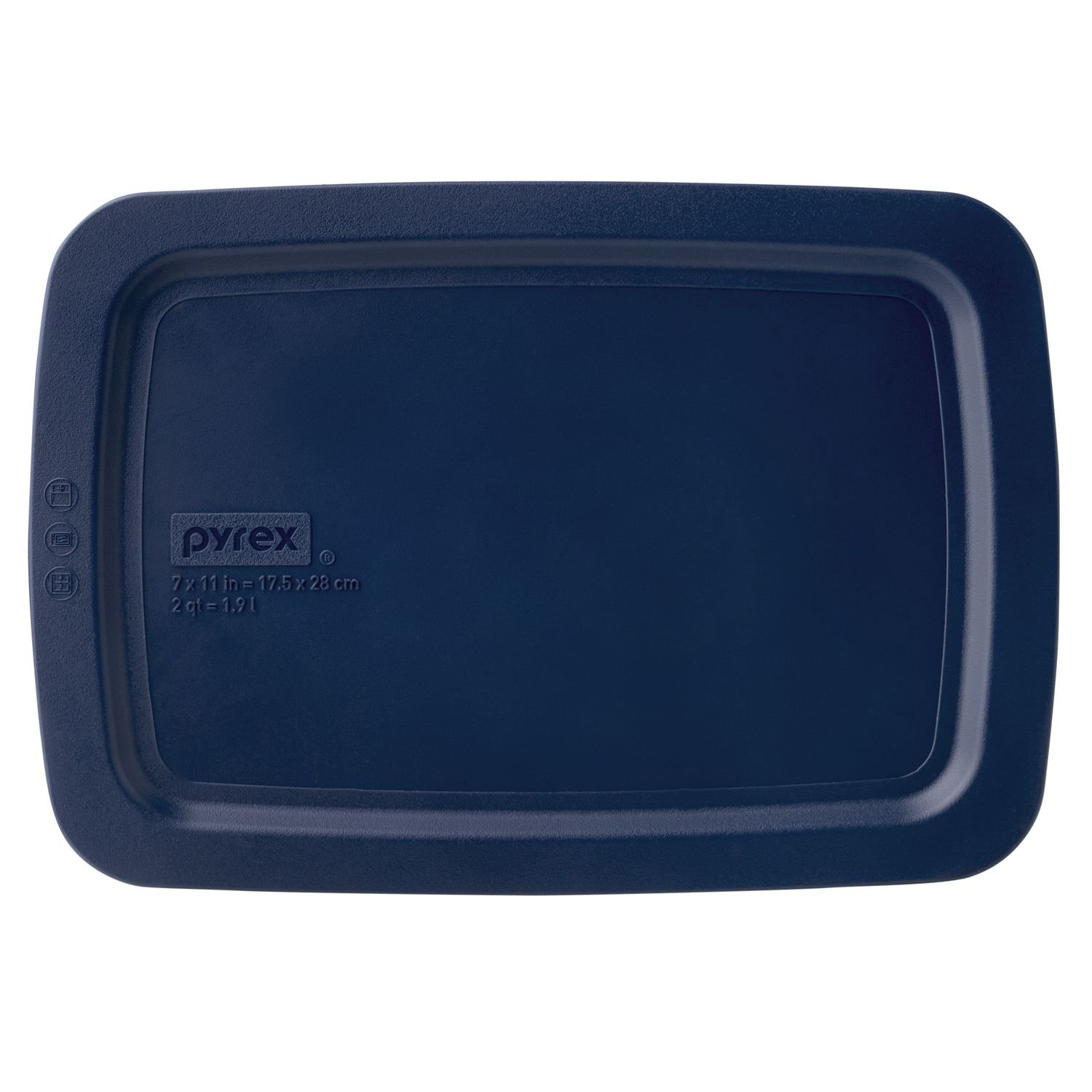 Pyrex Easy Grab 2-qt Oblong Storage Plastic Lid, Blue