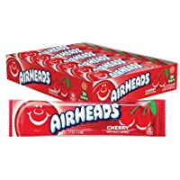 AirHeads Candy Individually Wrapped Bars, Cherry, Non Melting, 0.55 Ounce (Pack of 36)