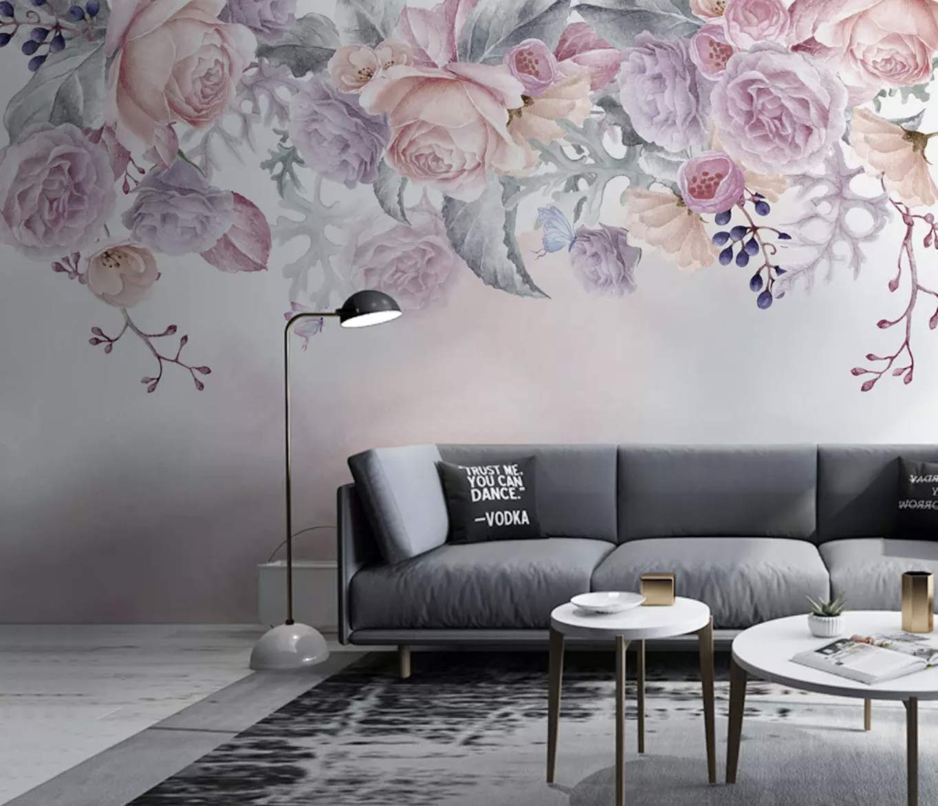 Amazon Com Murwall Floral Wallpaper Vintage Flower Wall Mural