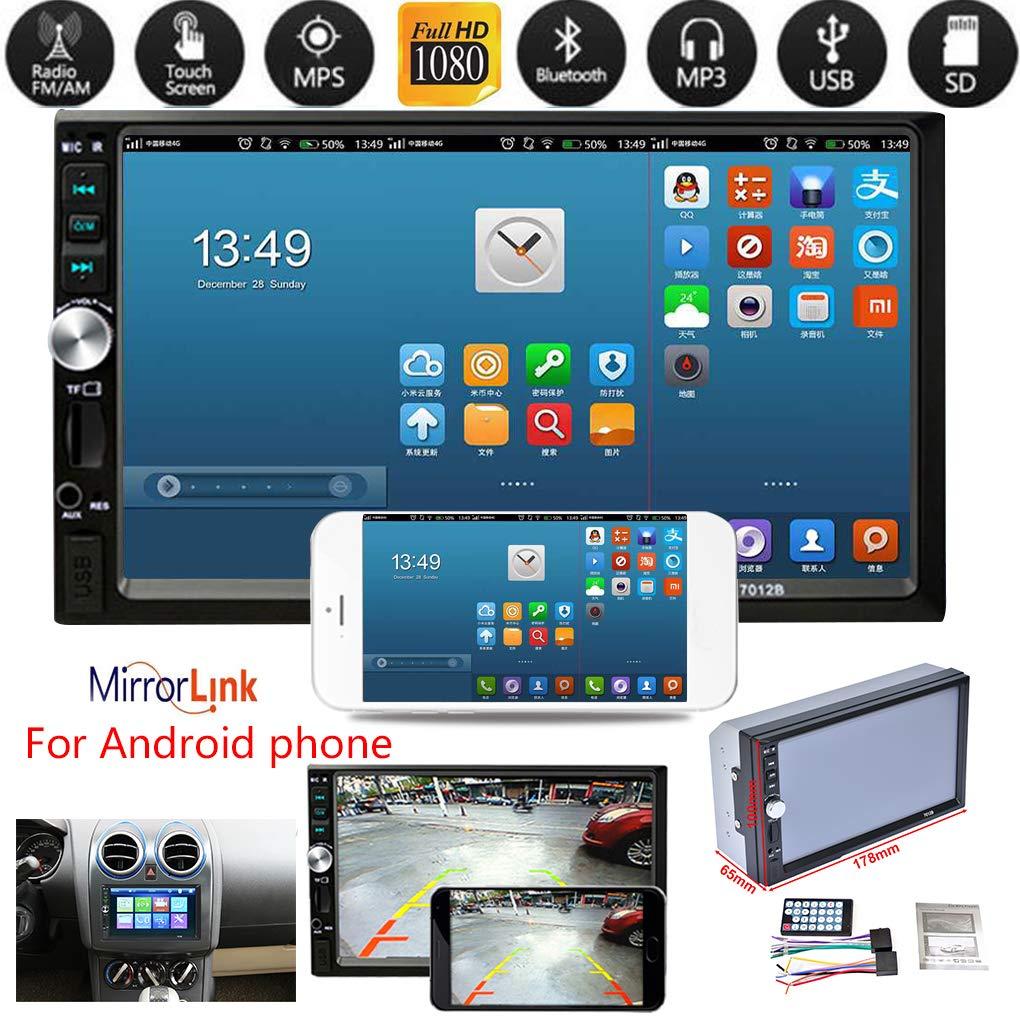 Amazon com: Four 2Din 7012B MP3 MP5 Player FM Car Radio Stereo Audio