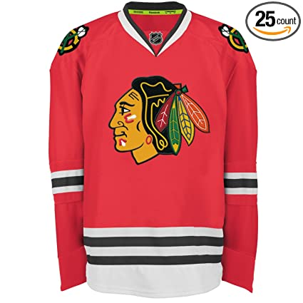 competitive price af062 1abc9 Amazon.com : Chicago Blackhawks Reebok Edge Authentic Home ...