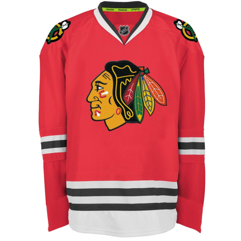 Chicago Blackhawks Reebok Edge Authentic Home NHL Hockey Jersey Size 56
