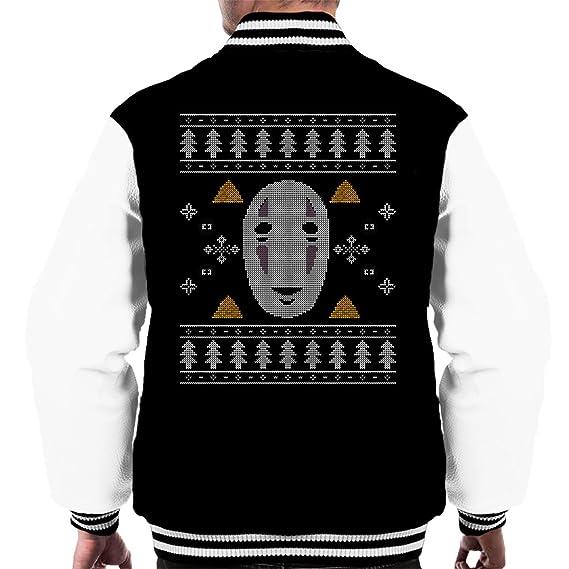 Christmas No Face Studio Ghibli Knit Mens Varsity Jacket Amazon